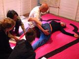 "Massage installation by Suwan Laimanee as part of ""Temporary Art Museum Soi Sabai""."
