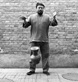 Dropping a Han dynasty urn (detail), 1995. Ai Weiwei.