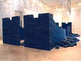 Image: Gu Wenda, <i>100,000 Kilometers</i>, 2004–2005, installation.
