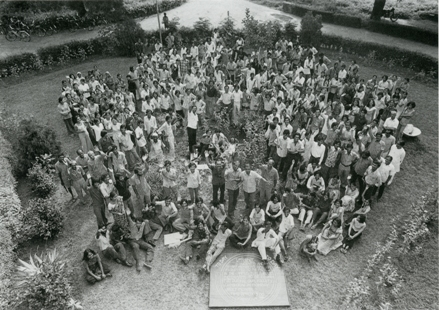 Staff and students, Faculty of Fine Arts, M.S. Univeristy Baroda, 1975