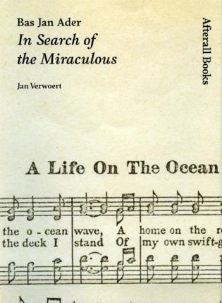 Image: Cover of <i>Bas Jan Ader: In Search of the Miraculous</i> by Jan Verwoert.
