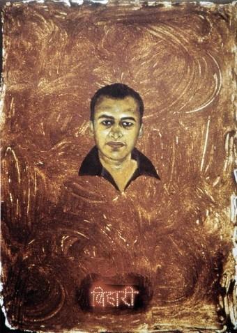 Image: Subodh Gupta, <i>Bihari</i>, 1998.