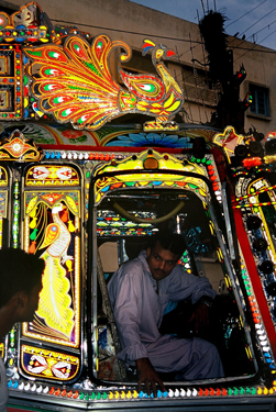 Route W11 bus driver, Karachi. Image: courtesy Durriya Kazi