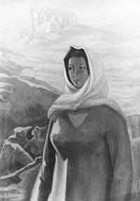 Image: A Bashir Al-Sinwar painting.