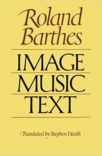 Image: Cover of <i>Image Music Text</i> by Roland Barthes.