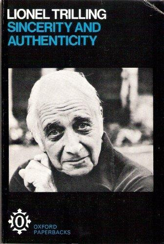 Image: Cover of <i>Sincerity and Authenticity</i> by Lionel Trilling.