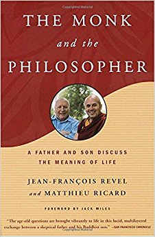 Image: Cover of <i>The Monk and the Philosopher</i> by Matthieu Ricard and Jean-François Revel.