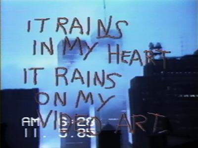 """Shigeko Kubota. """"SoHo SoAp/Rain Damage"""", 1985."""