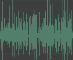Wave file for audio files