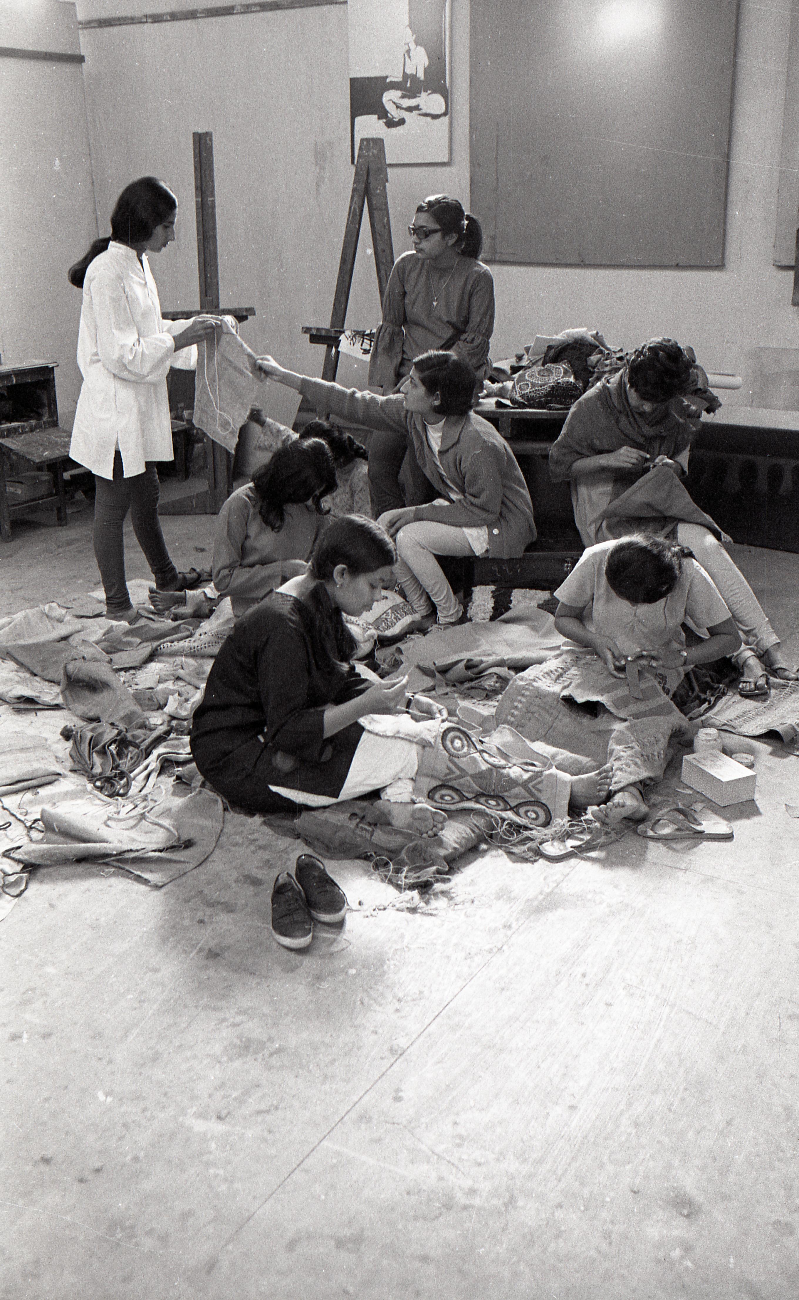Preparation for the Fine Arts Fair, 1970