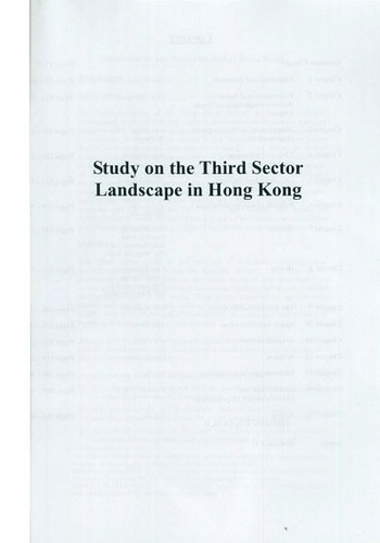Study on the Third Sector Landscape in Hong Kong - Cover