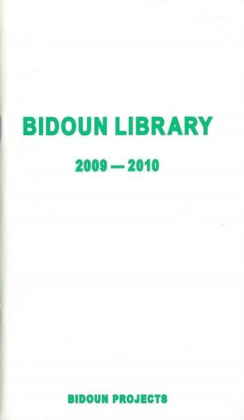 Bidoun Library 2009-2010