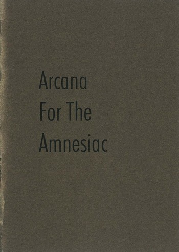 Arcana for the Amnesiac_Cover