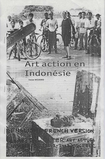 Art action in Indonesia