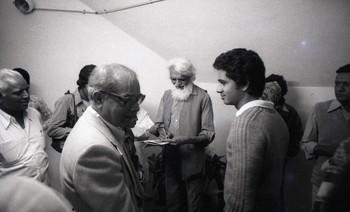 Photograph of M.F.Husain