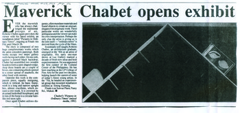 Maverick Chabet opens exhibit