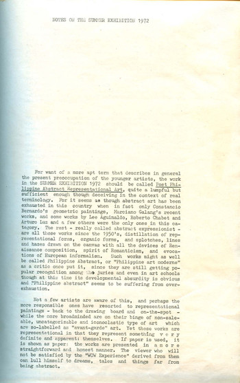 Summer Exhibition 1972 — Exhibition Notes