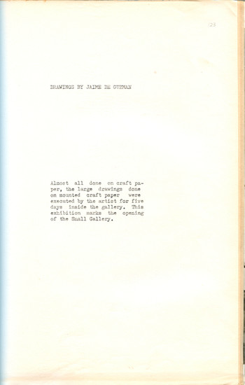 Drawings by Jaime de Guzman (Exhibition Notes)