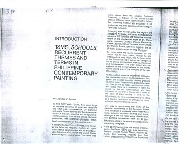 Introduction: 'Isms, Schools, Recurrent Themes and Terms in Philippine Contemporary Painting