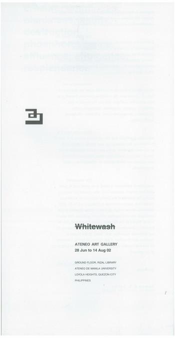 Whitewash — Exhibition Catalogue
