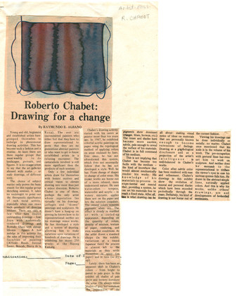 Roberto Chabet: Drawing For a Change