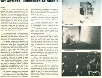 101 Artists – Incidents at Shop 6