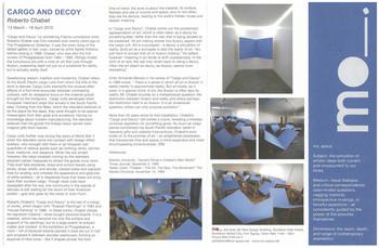 Cargo and Decoy — Exhibition Brochure