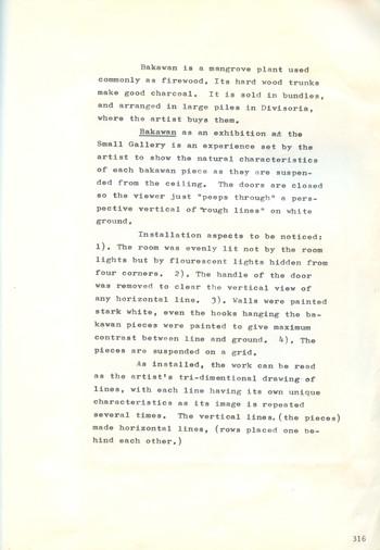 Notes on Roberto Chabet's Bakawan