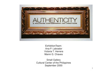 Authenticity (Exhibition Notes)
