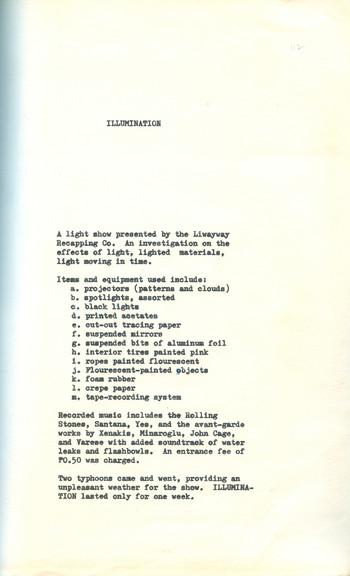 Illumination (Exhibition Notes)