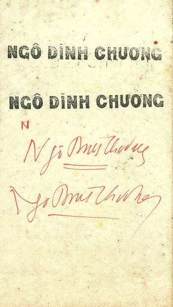 Solo Exhibition of Ngo Dinh Chuong — Exhibition Invitation