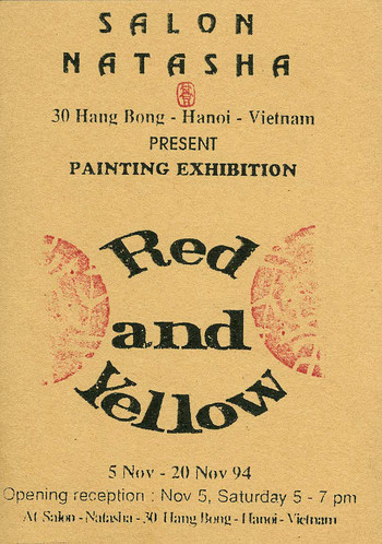 Red and Yellow — Exhibition Invitation