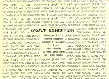 No Theme, No Romantic Name — Exhibition Invitation