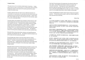 Curator's Notes on Death in Hong Kong Exhibition