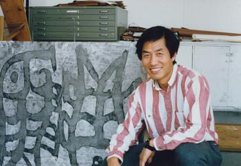 Wang Dongning at the First Chinese Art Seminar/Workshop