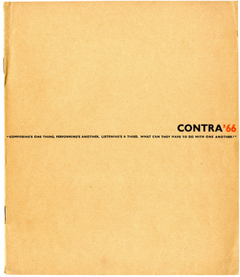 CONTRA'66 (Number 3-4)