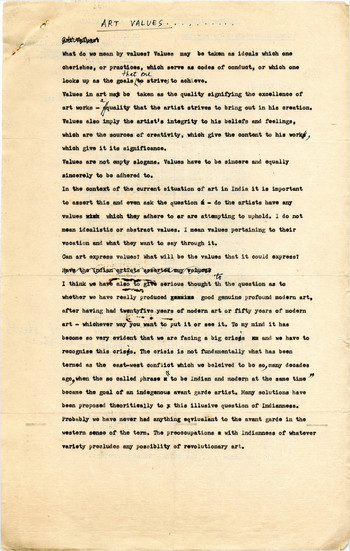 search manuscripts of essays and articles asia art archive art values