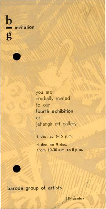 Baroda Group of Artists: Fourth Show — Invitation