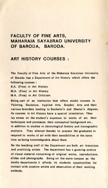 Art History Courses — Brochure