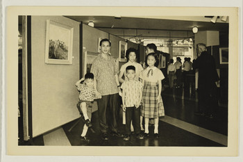 The Third Annual Exhibition of The Chinese Contemporary Artists' Guild in 1962 (Set of 4 Photographs