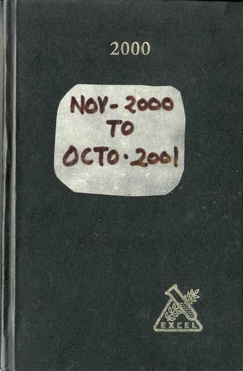 Diary of Jyoti Bhatt (2000–2001)