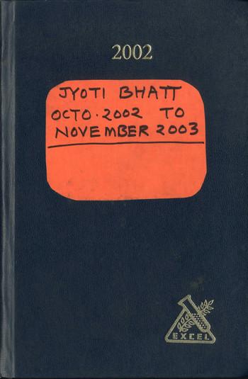 Diary of Jyoti Bhatt (2002–2003)