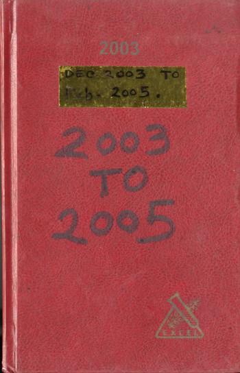 Diary of Jyoti Bhatt (2003–2005)