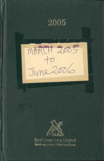 Diary of Jyoti Bhatt (2005–2006)