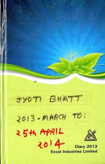 Diary of Jyoti Bhatt (2013–2014)