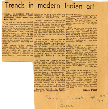 Trends in Modern Indian Art