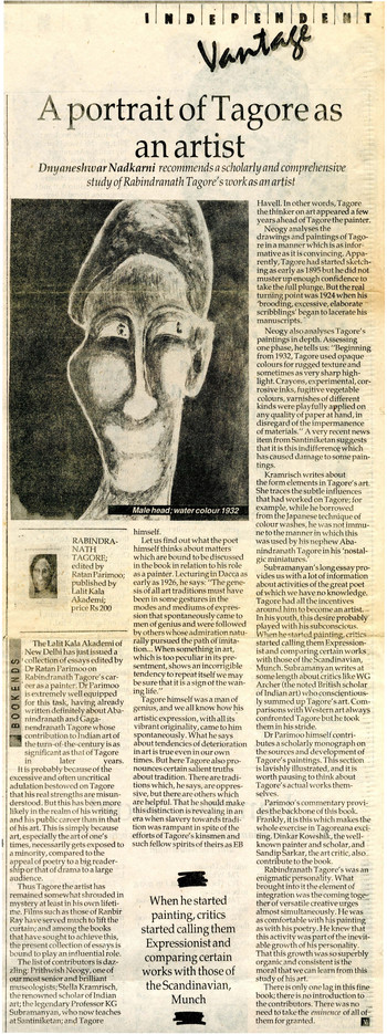 A Portrait of Tagore asan Artist