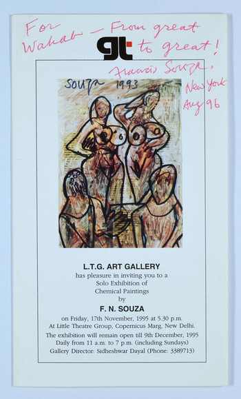 Solo Exhibition of Chemical Paintings by F. N. Souza