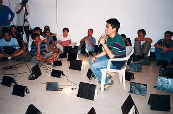 Louie Cordero Presenting at Thesis Deliberation