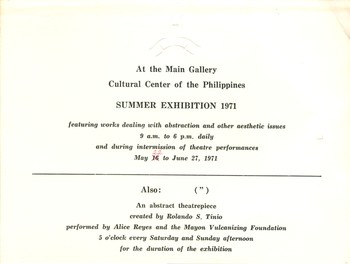 Summer Exhibition 1971 — Exhibition Invitation